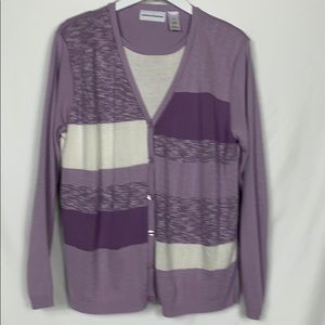 Alfred Dunner purple 1pc. Sweater size XL